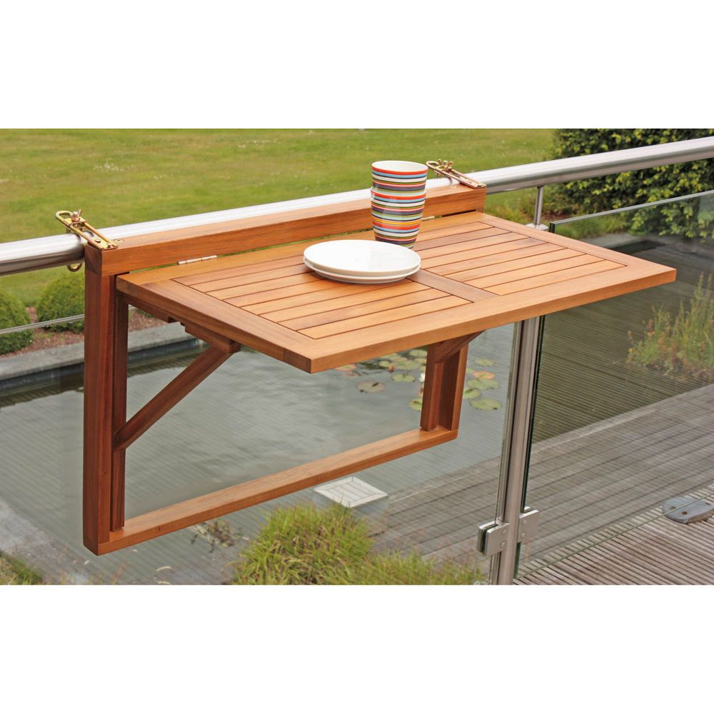 Neu Balkonhngetisch Balkontisch Aus Holz Klappbar Balkonmbel Ausklappbares Bett Ausklappbar