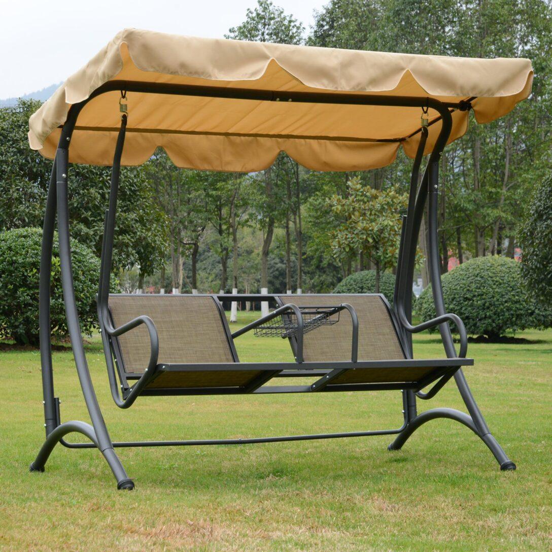 Large Size of Outsunny 2 Sitzer Hollywoodschaukel Schaukel Mit Sonnendach Regal Metall Bett Regale Weiß Wohnzimmer Gartenschaukel Metall