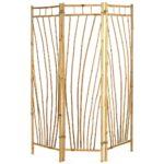 Paravent Bambus Balkon Outdoor B135xh175cm Bett Garten Wohnzimmer Paravent Bambus Balkon