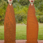 Gartenskulpturen Holz Aus Und Glas Selber Machen Kaufen Gartenskulptur Stein Skulpturen Garten Susanne Boerner 2 Linus Lena In Alu Fenster Massivholz Esstisch Wohnzimmer Gartenskulpturen Holz