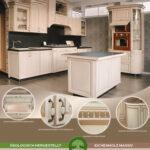 Landhauskche Antibes Kchenzeile 54m Mit Insel Komplettküche Miele Küche Wohnzimmer Miele Komplettküche
