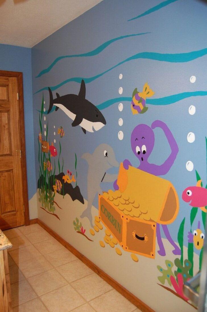 Medium Size of Wandgestaltung Kinderzimmer Jungen Ideen Mit Farbe Handgemalte Motive Sofa Regal Weiß Regale Wohnzimmer Wandgestaltung Kinderzimmer Jungen