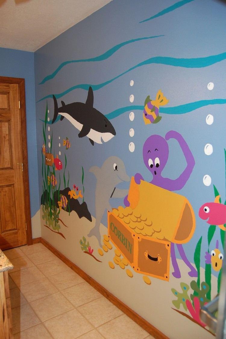 Full Size of Wandgestaltung Kinderzimmer Jungen Ideen Mit Farbe Handgemalte Motive Sofa Regal Weiß Regale Wohnzimmer Wandgestaltung Kinderzimmer Jungen