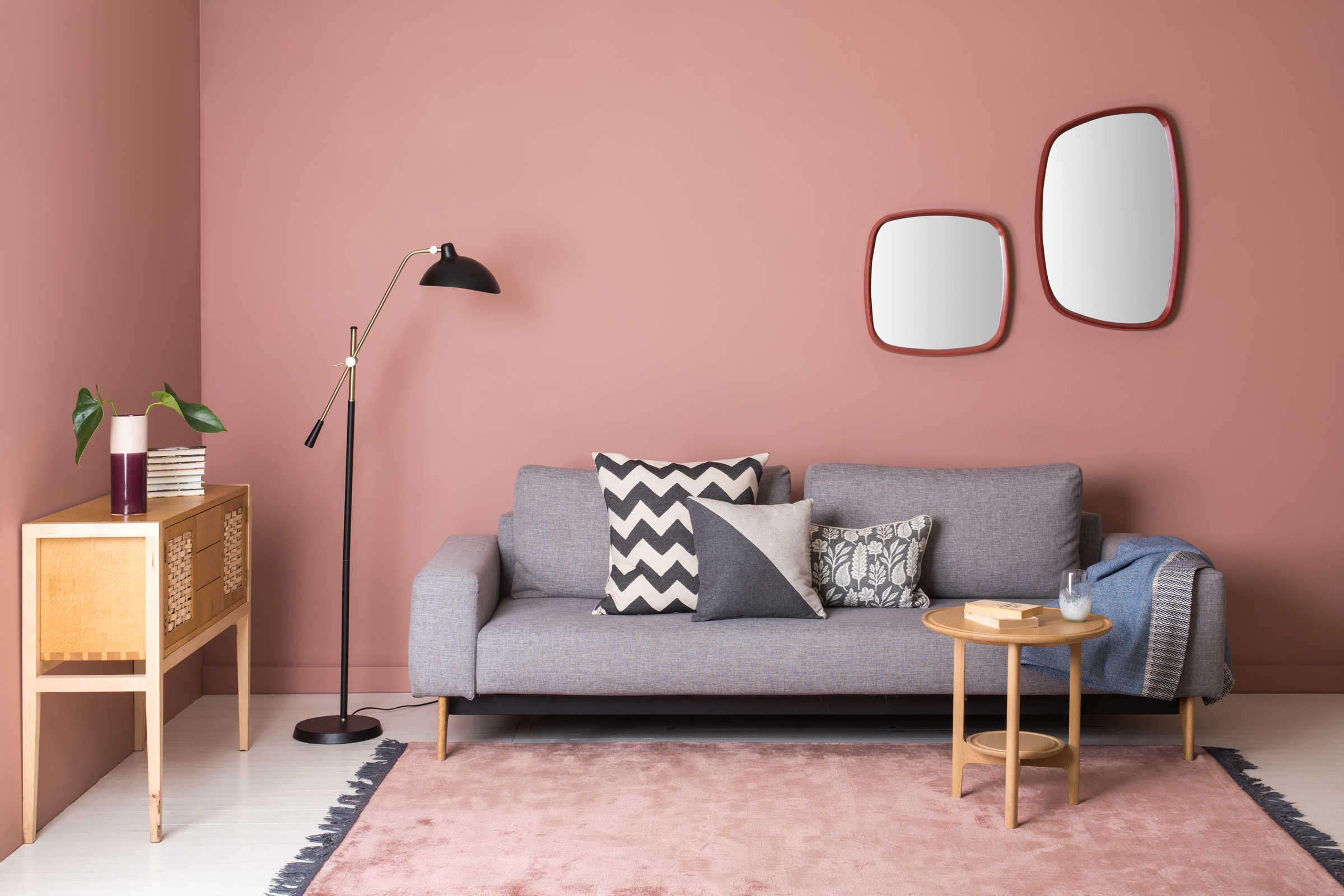 Full Size of Wandfarbe Rosa Weiblichkeit Im Interieur Durch Altrosa Ausdrcken Küche Wohnzimmer Wandfarbe Rosa