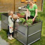 Hochbeet Edelstahl Lifestyle Im Garten Quadro System Aus Ein Outdoor Küche Edelstahlküche Gebraucht Wohnzimmer Hochbeet Edelstahl
