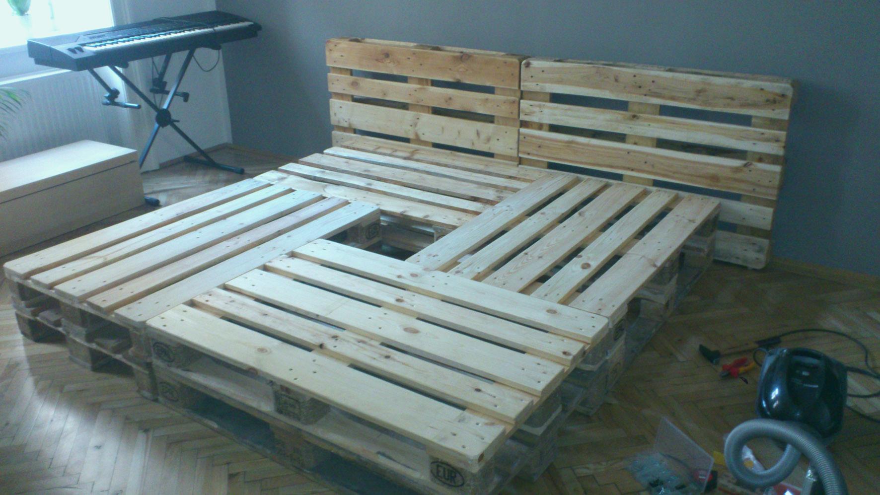 Full Size of Bauanleitung Bauplan Palettenbett Paletten Bett 200x200 Wohnzimmer Bauanleitung Bauplan Palettenbett