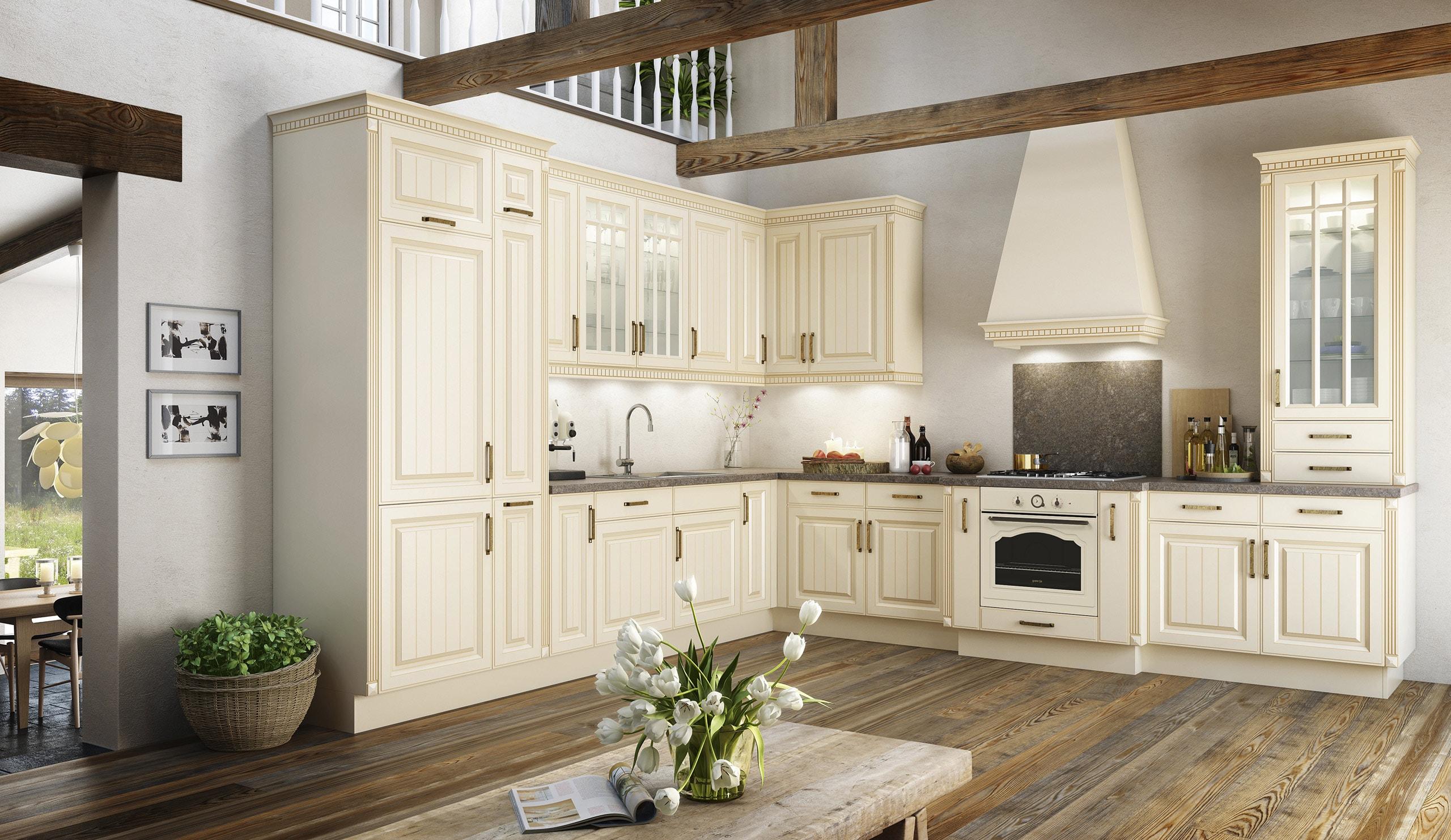 Full Size of Landhaus Einbaukche Bavaria 5444 Sahara Kchenquelle Küchen Regal Wohnzimmer Küchen Quelle