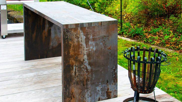 Medium Size of Thekenstuhl Outdoor Thekentisch Theke Bauen Selber Apothekerschrank Küche U Form Mit Edelstahl Kaufen Wohnzimmer Outdoor Theke