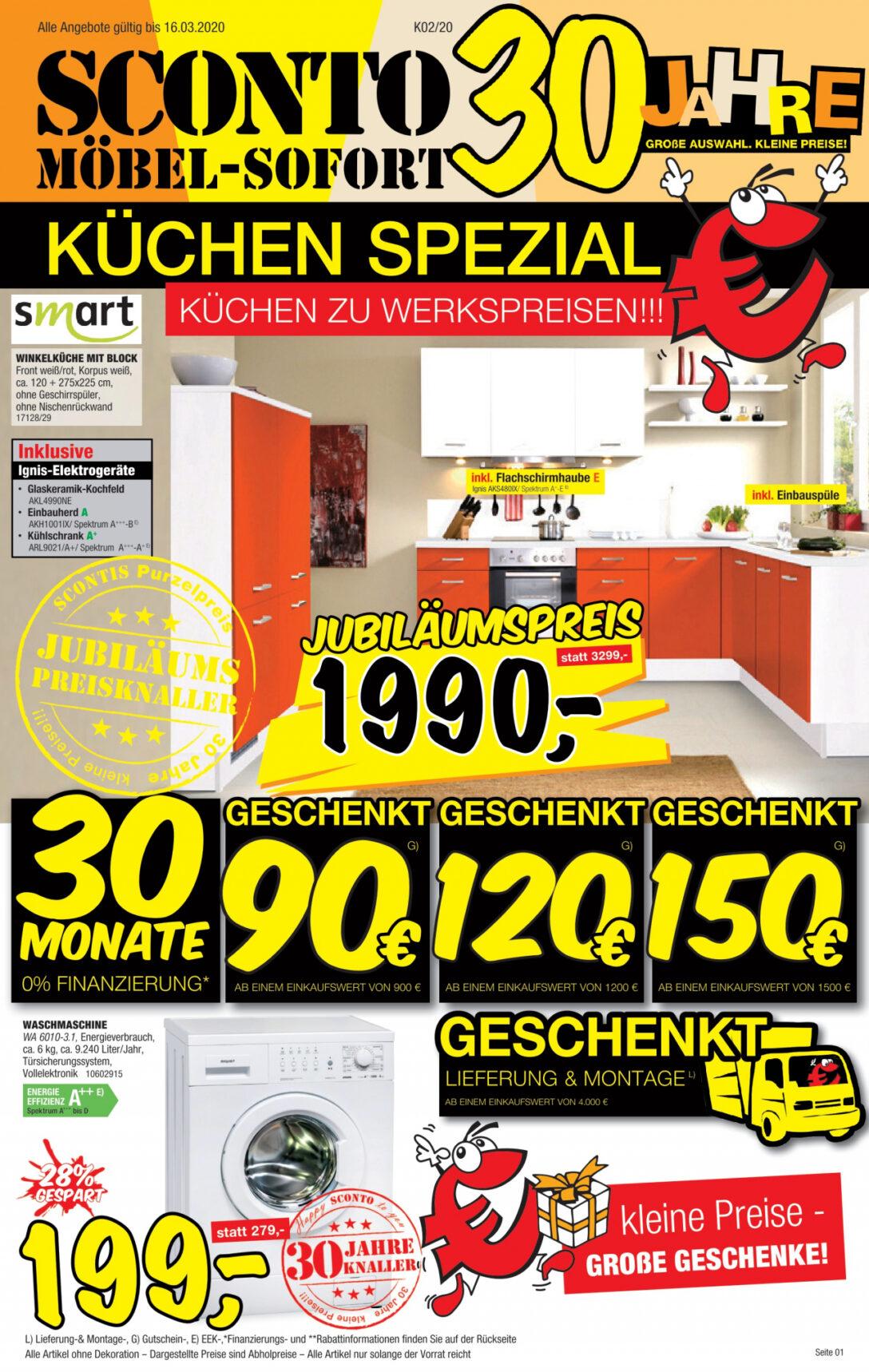 Large Size of Sconto Küchen Kchen Vom 25 02 2020 Kupinode Regal Wohnzimmer Sconto Küchen