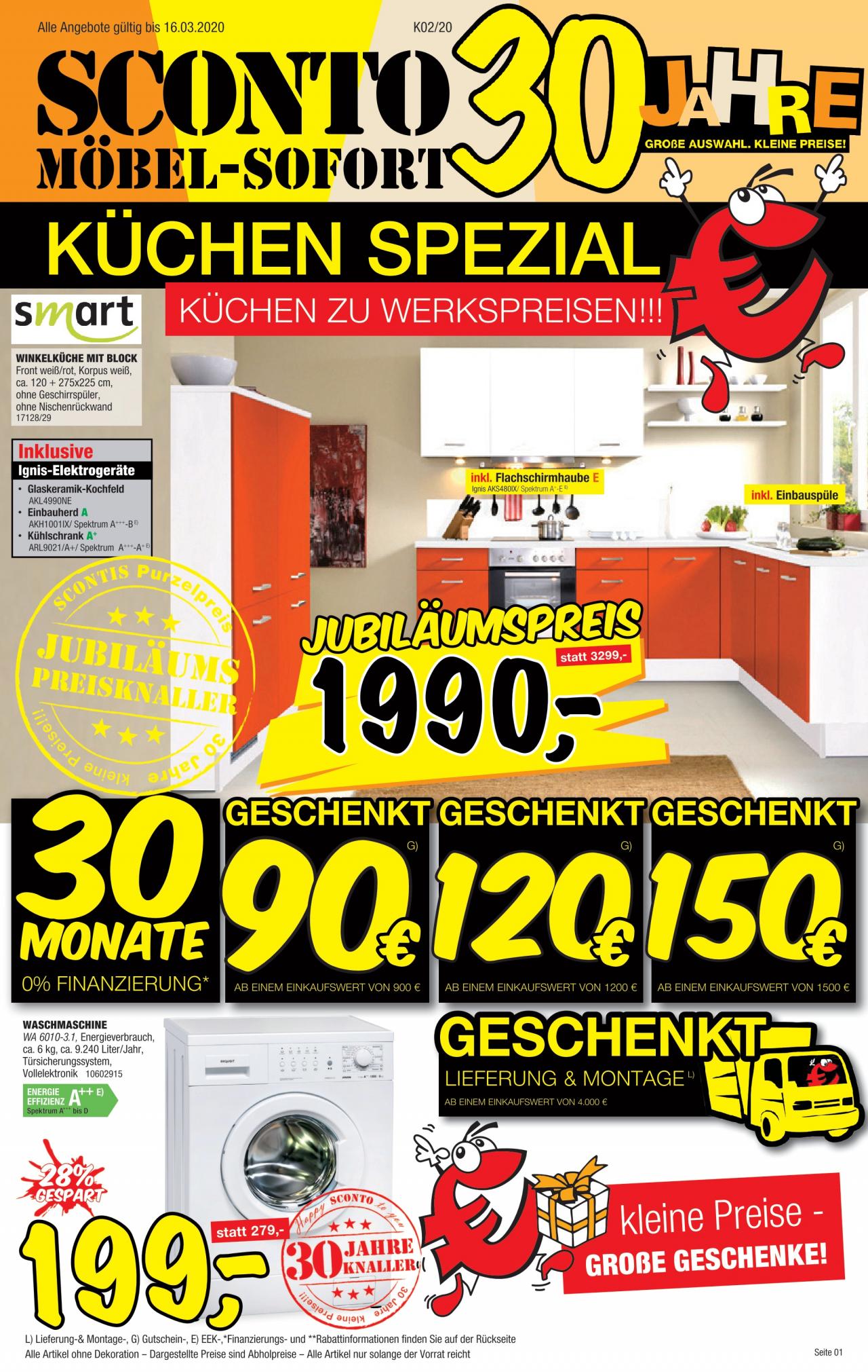Full Size of Sconto Küchen Kchen Vom 25 02 2020 Kupinode Regal Wohnzimmer Sconto Küchen
