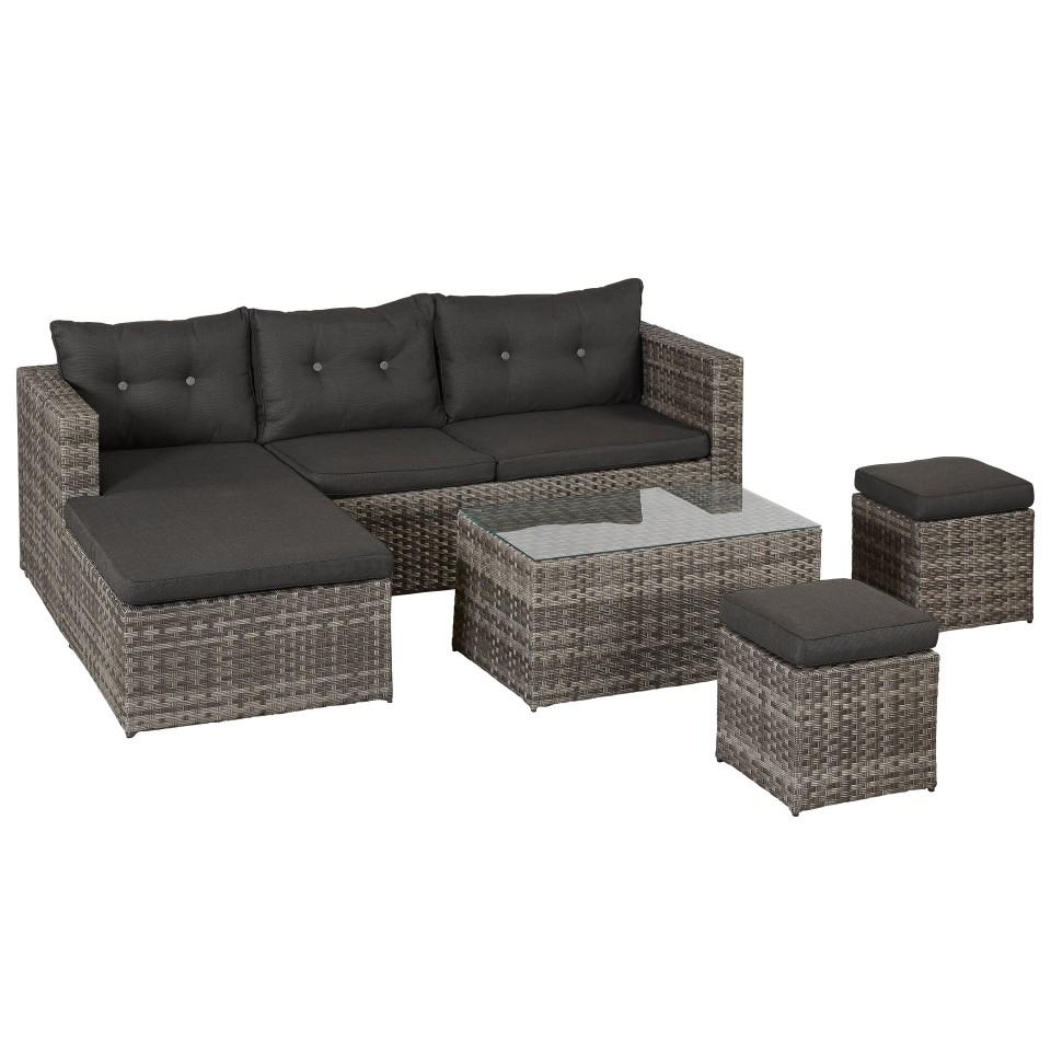 Full Size of Sitzgruppe 6 Teilig Geflecht Lounge Set 4 Teilig D Küche Wohnzimmer Outliv. Kalibo Sitzgruppe 6 Teilig Geflecht