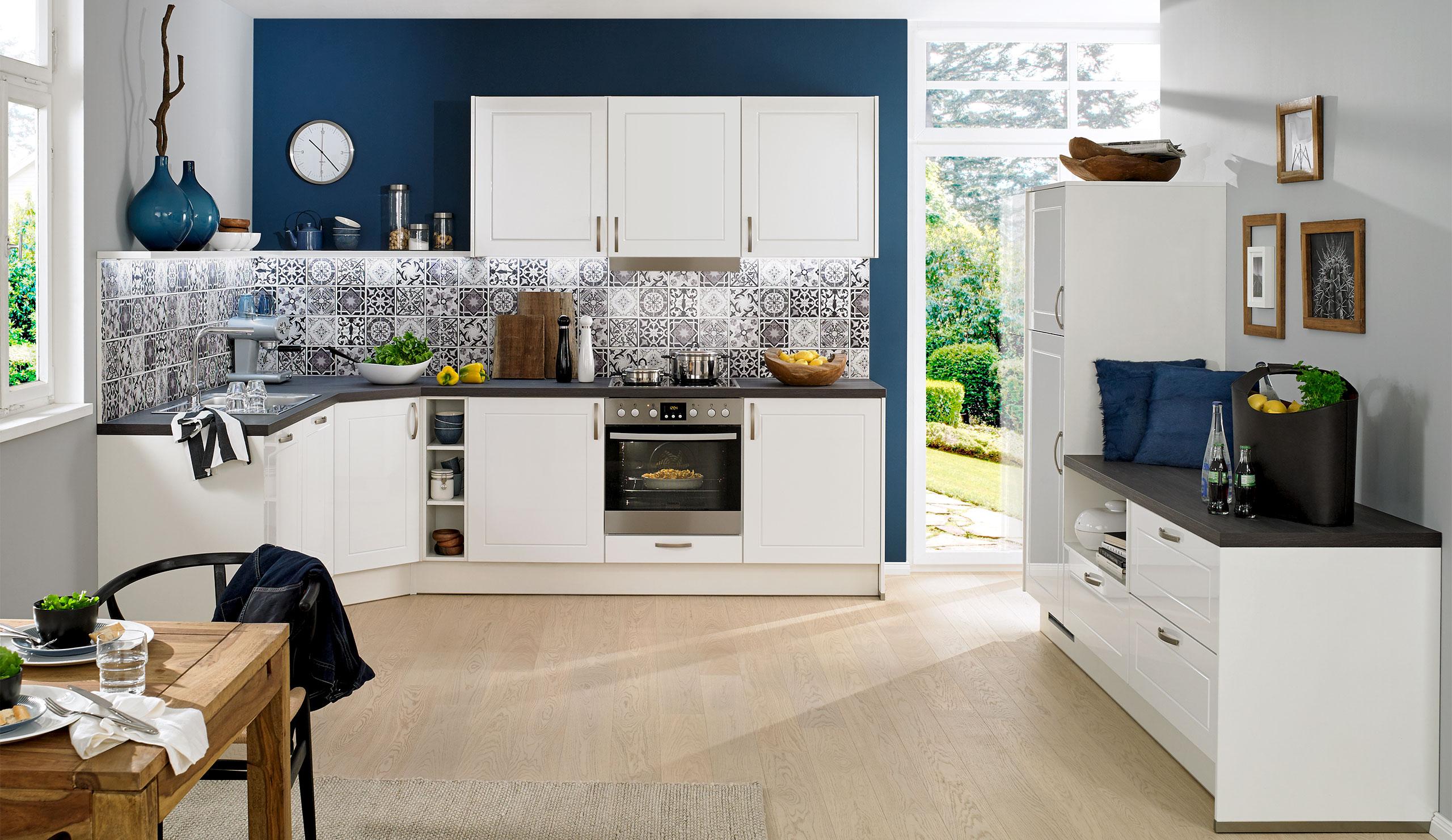 Full Size of Küchen Quelle Basic Einbaukche Pura 4475 Weiss Hochglanz Kchenquelle Regal Wohnzimmer Küchen Quelle