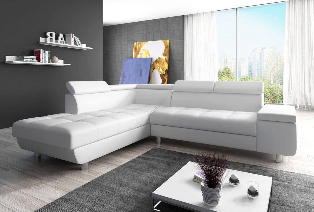 Large Size of Couch Garnitur Ecksofa Sofagarnitur In Kunstleder Wei Sofa Reeno Regal Ohne Rückwand Schreibtisch Ikea Mit Schlaffunktion Schillig Tv überwurf Holzfüßen Wohnzimmer Big Sofa L Form