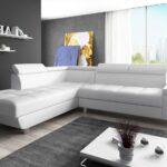 Couch Garnitur Ecksofa Sofagarnitur In Kunstleder Wei Sofa Reeno Regal Ohne Rückwand Schreibtisch Ikea Mit Schlaffunktion Schillig Tv überwurf Holzfüßen Wohnzimmer Big Sofa L Form
