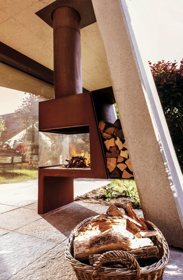 Medium Size of Kamin Und Ofengestaltung Wohnzimmer Holzlege Cortenstahl