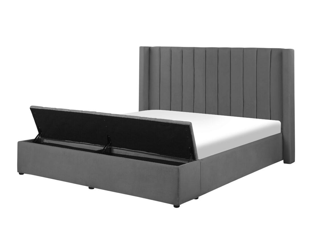 Large Size of Polsterbett 200x220 Samtstoff Grau Mit Stauraum 180 200 Cm Noyers Bett Betten Wohnzimmer Polsterbett 200x220
