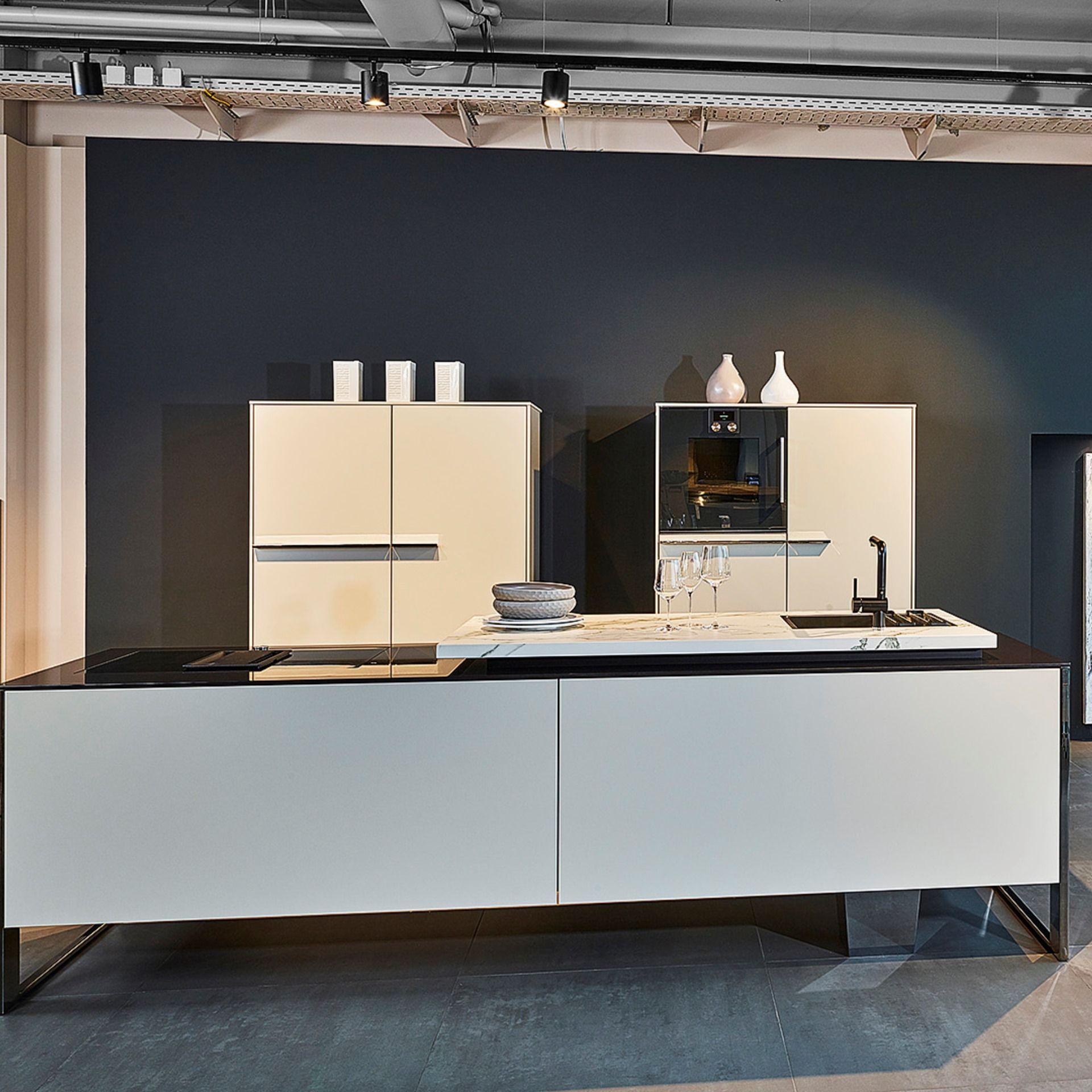 Full Size of Diese Moderne Poggenpohl Kche In Kieselgrau Matt Steht Unserer Küchen Regal Wohnzimmer Poggenpohl Küchen