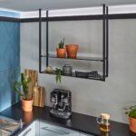 Hängeregal Kücheninsel Wohnzimmer Hängeregal Kücheninsel Praktisch Skchenregal Hngeregal Deckenregal Küche