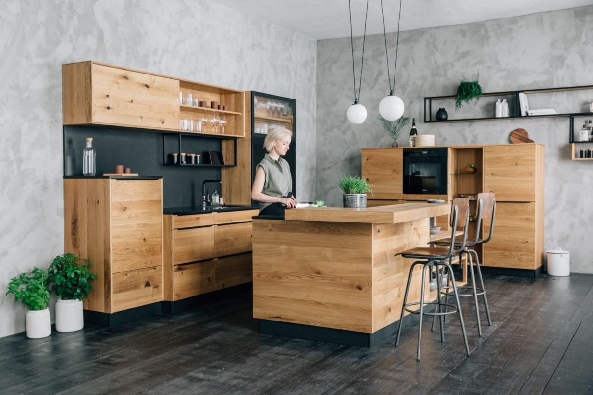 Full Size of Massivholzküche Abverkauf Massivholzkchen Von Walden Adrian Kchen In Aschaffenburg Inselküche Bad Wohnzimmer Massivholzküche Abverkauf