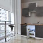 Miniküche Roller Respekta Kche Minikche Singlekche Kchenzeile Real Regale Mit Kühlschrank Ikea Stengel Wohnzimmer Miniküche Roller