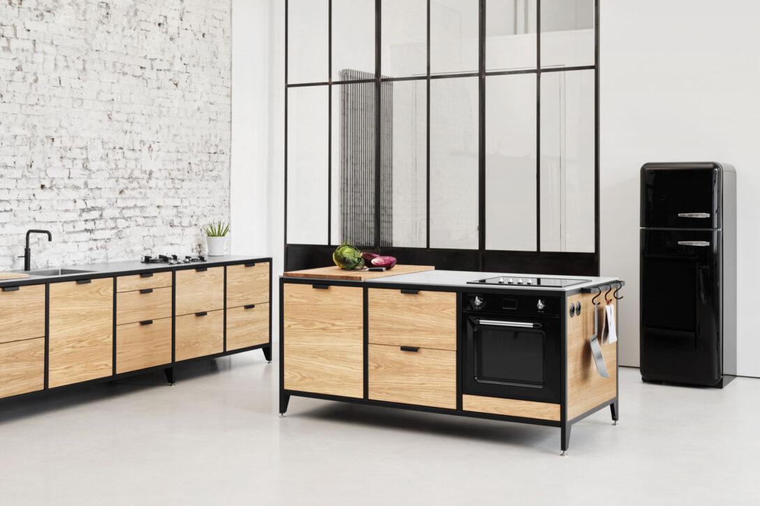 Large Size of Werk Modulkche Im Industrial Style Jan Cray Mbel Und Kchen Küchen Regal Freistehende Küche Wohnzimmer Freistehende Küchen