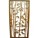 Paravent Bambus Wohnzimmer Rost Sichtschutz Offener Bambus Paravent Hhe 200 Cm Gertehaus Bett Garten