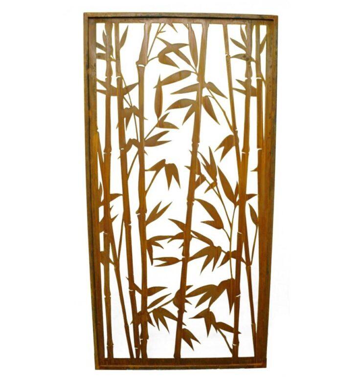 Medium Size of Rost Sichtschutz Offener Bambus Paravent Hhe 200 Cm Gertehaus Bett Garten Wohnzimmer Paravent Bambus