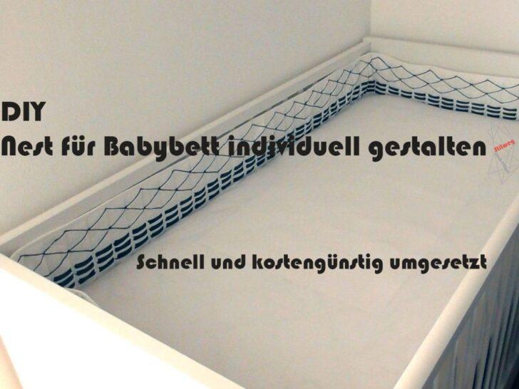 Diy Bettumrandung Nest Frs Babybett Kinderbett Gestalten Wohnzimmer Kinderbett Diy