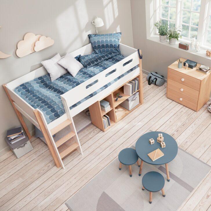 Medium Size of Flexa Nor Halbhohes Hochbett Dannenfelser Kindermbel Bett Wohnzimmer Halbhohes Hochbett