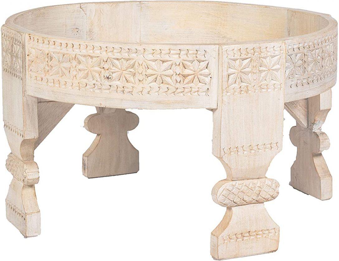 Large Size of Küche Beistelltisch Marokkanischer Hocker Aus Holz Idris Weiss Pantryküche Kleine L Form Komplettküche Pendeltür Landküche Einrichten Hängeschrank Wohnzimmer Küche Beistelltisch