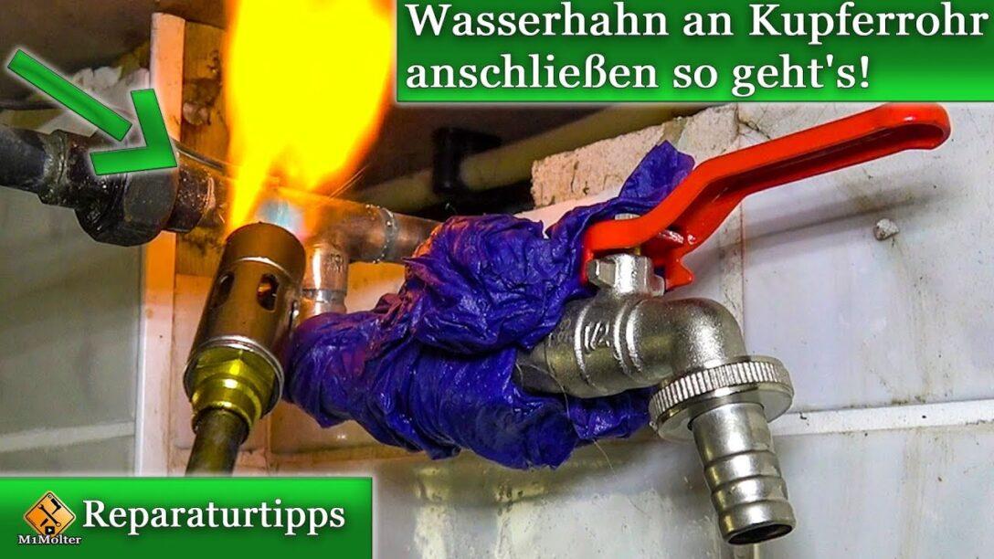 Large Size of Wasserhahn Anschluss Wasseranschluss Verlegen An Kupferrohr Anschlieen Küche Wandanschluss Für Bad Wohnzimmer Wasserhahn Anschluss
