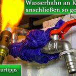 Wasserhahn Anschluss Wasseranschluss Verlegen An Kupferrohr Anschlieen Küche Wandanschluss Für Bad Wohnzimmer Wasserhahn Anschluss
