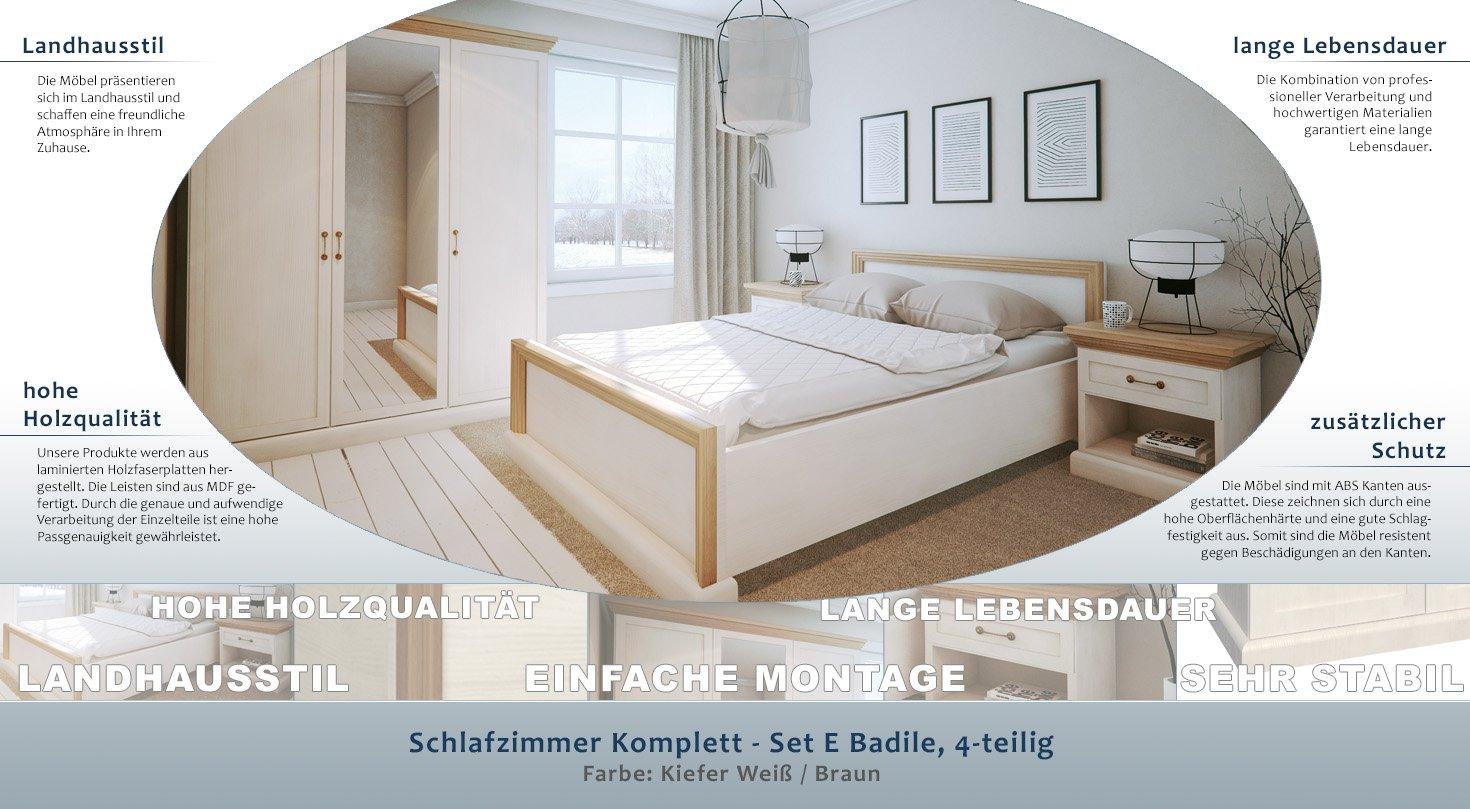 Full Size of Schlafzimmer Komplett Landhausstil Rauch Kommode Weiß Komplette Günstig Bett 160x200 Regal Stuhl Mit überbau Wandbilder Küche Set Sitzbank Betten Wohnzimmer Schlafzimmer Komplett Landhausstil