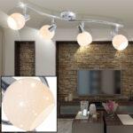 Deckenlampen Küche Led Deckenlampe Mit Vier Glas Schirmen Fr Ihre Kche Doxy Etc Shop Einzelschränke Sideboard Arbeitsplatte Türkis Elektrogeräten Günstig Wohnzimmer Deckenlampen Küche