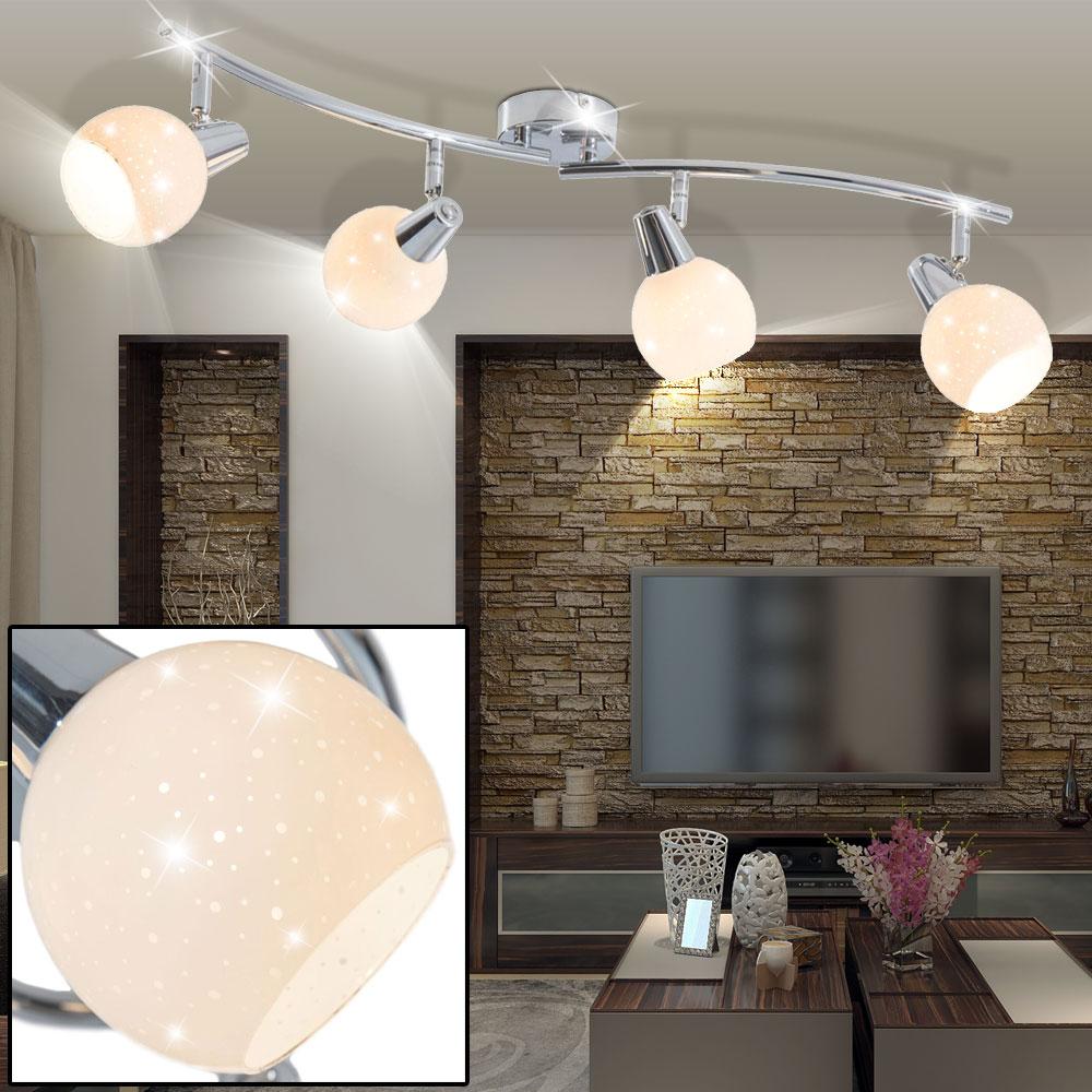 Full Size of Deckenlampen Küche Led Deckenlampe Mit Vier Glas Schirmen Fr Ihre Kche Doxy Etc Shop Einzelschränke Sideboard Arbeitsplatte Türkis Elektrogeräten Günstig Wohnzimmer Deckenlampen Küche