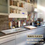 Küchen Fliesenspiegel Bunte Fliesen Fr Kche Mexikanische Mit Muster Küche Glas Selber Machen Regal Wohnzimmer Küchen Fliesenspiegel