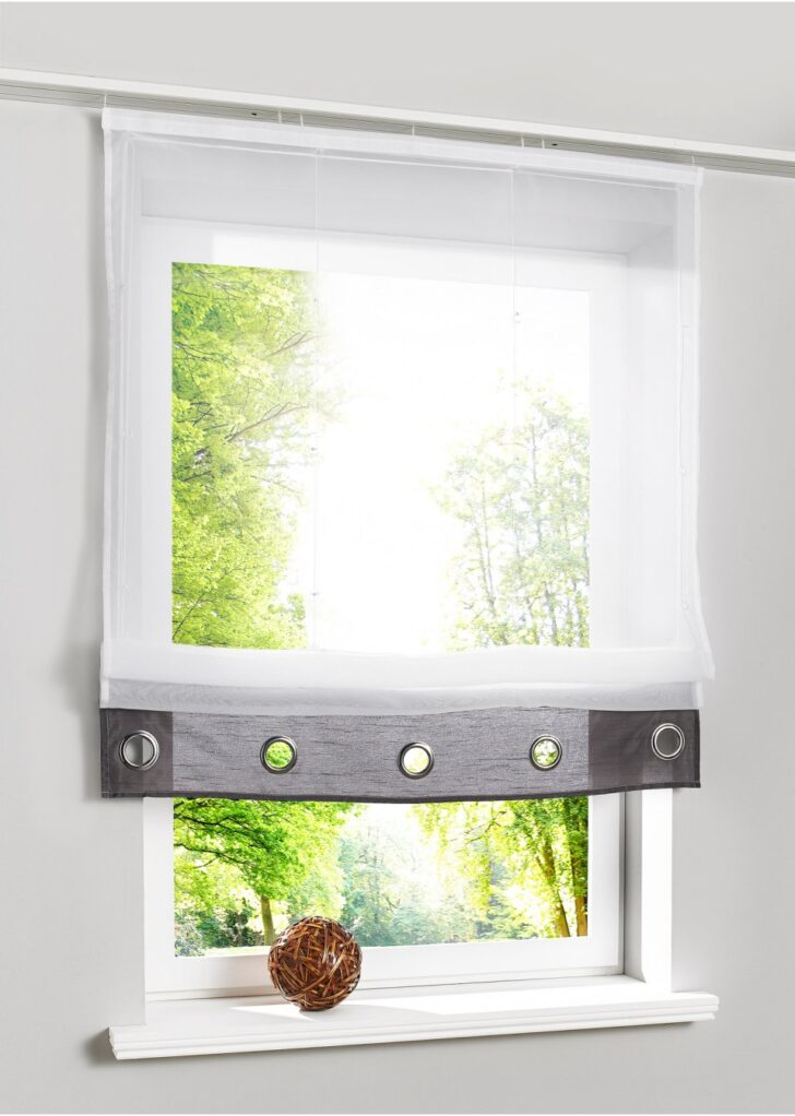 Medium Size of Raffrollo Mit Zeitlosen Details Grau Gardinen Für Schlafzimmer Wohnzimmer Die Küche Fenster Scheibengardinen Wohnzimmer Gardinen Doppelfenster