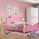 Mädchenbetten Betten Mbel Rosa Massivholz Kind Bett Wohnzimmer Mädchenbetten