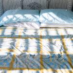 Rattan Bett Vintage Wohnzimmer Rattan Bett Vintage Nahaufnahme Des Neuen Sauberes Mit Daunendecke Wicker Box Spring Boxspring Betten Erhöhtes Ausziehbett 90x190 Lattenrost Weißes Breite