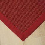 Teppich 300x400 Wohnzimmer Teppich 300x400 Sisal Manaus Mit Bordre Rot Cm 100 Für Küche Schlafzimmer Bad Badezimmer Wohnzimmer Steinteppich Teppiche Esstisch