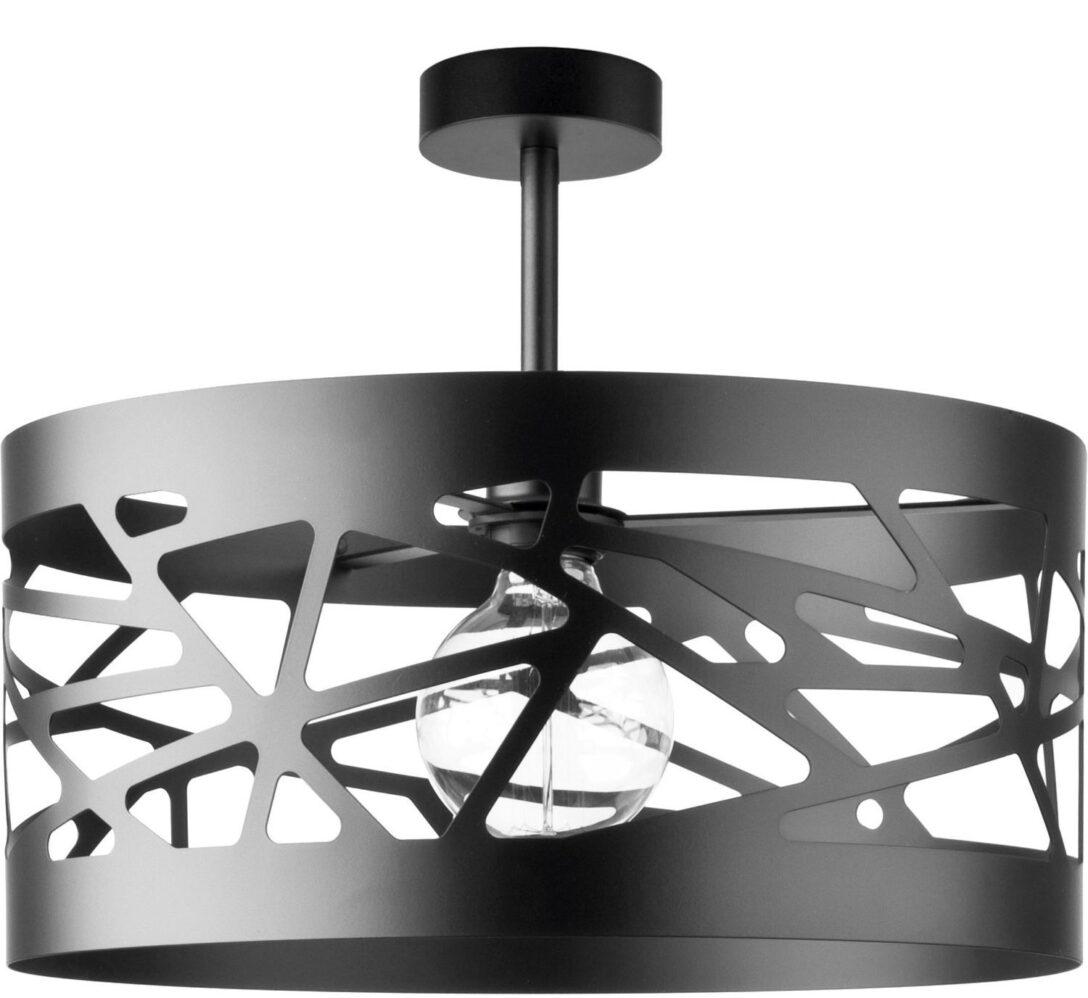 Large Size of Deckenlampe Modern Schwarze Deckenleuchte Breiter Schirm Modernes Design Wohnzimmer Moderne Bilder Fürs Sofa Esstische Bett Tapete Küche Deckenlampen Für Wohnzimmer Deckenlampe Modern