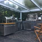 Gemauerte Küche Outdoorkche Rostock Musterküche Einbauküche Ohne Kühlschrank Selber Planen Aluminium Verbundplatte Beistellregal Sonoma Eiche Wohnzimmer Gemauerte Küche
