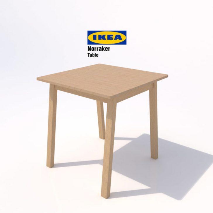 Medium Size of Ikea Norraker Tisch 02 3d Modell 15 Unknown Obj Mafbx Modulküche Küche Kosten Betten 160x200 Bei Sofa Mit Schlaffunktion Kaufen Miniküche Bartisch Wohnzimmer Ikea Bartisch