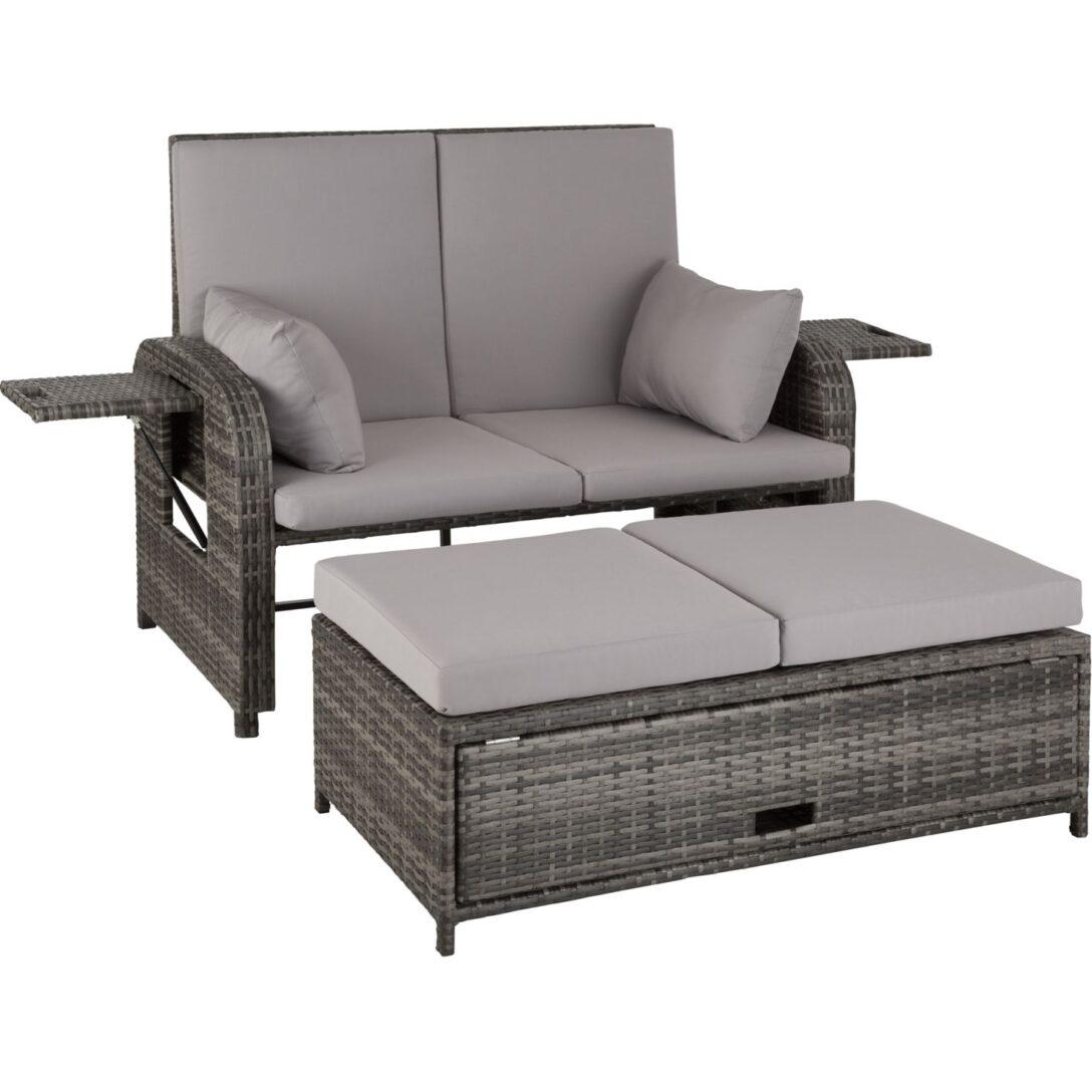 Large Size of Couch Ausklappbar Rattan Sofa Mit Aluminiumgestell Kreta Gnstig Online Kaufen Tectake Ausklappbares Bett Wohnzimmer Couch Ausklappbar