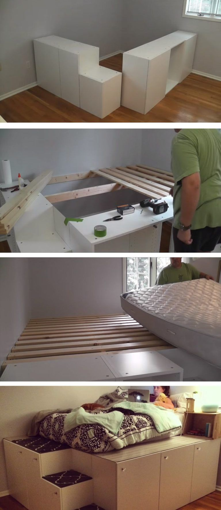 Full Size of Podestbett Selber Bauen Ikea Bedroom Diy Betten 160x200 Sofa Mit Schlaffunktion Küche Kaufen Bei Modulküche Miniküche Kosten Wohnzimmer Podestbett Ikea