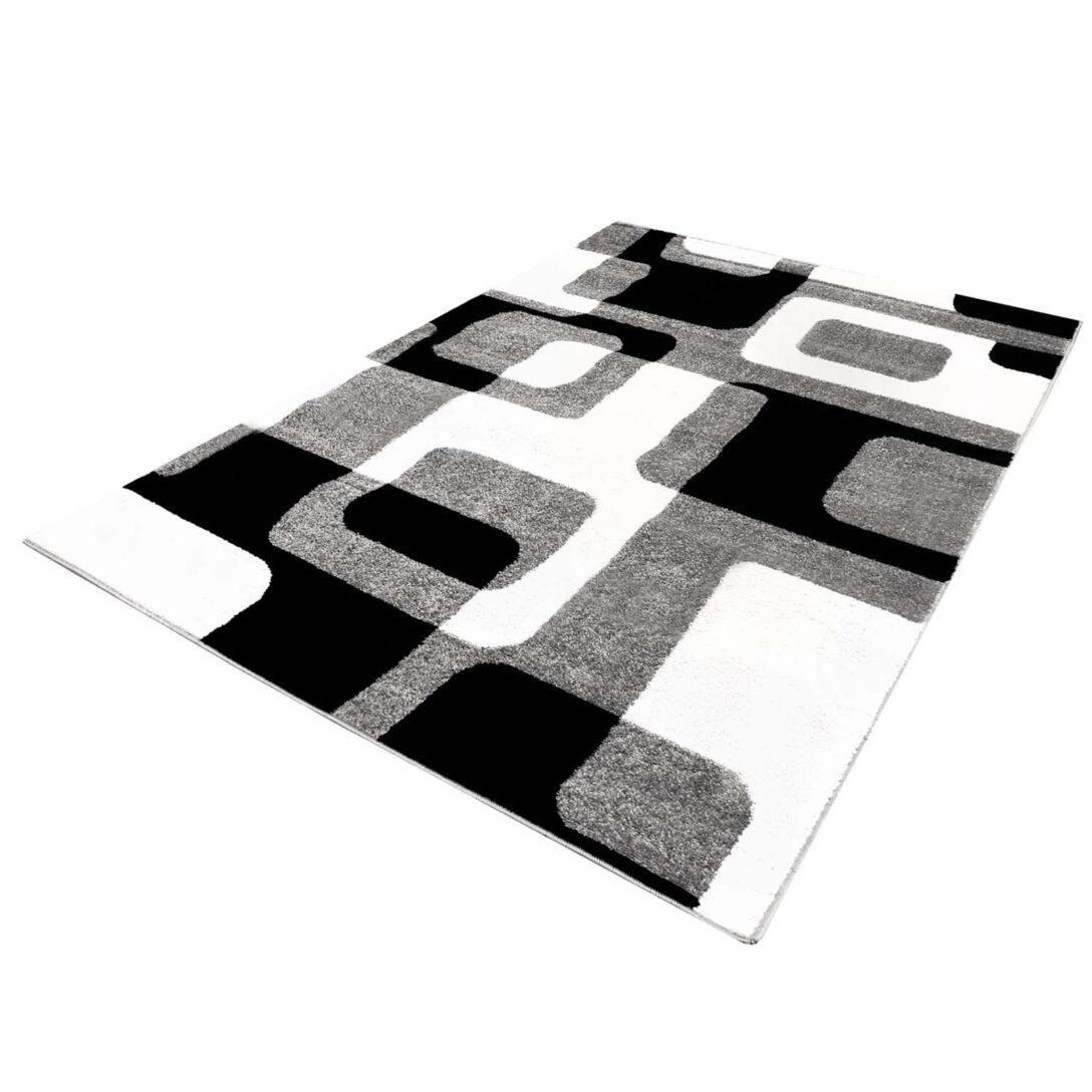 Large Size of Teppich Lufer Im Retro Look Moda 1464 Schwarz Wei In 80x300 Cm Wohnzimmer Weiße Regale Betten Schweißausbrüche Wechseljahre Bett 90x200 Weiß Mit Schubladen Wohnzimmer Teppich Schwarz Weiß