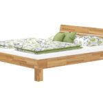 Komplettbett 180x220 Eiche Massivholz Doppelbett 180x200 Mit Durchgehender Matratze Bett Wohnzimmer Komplettbett 180x220