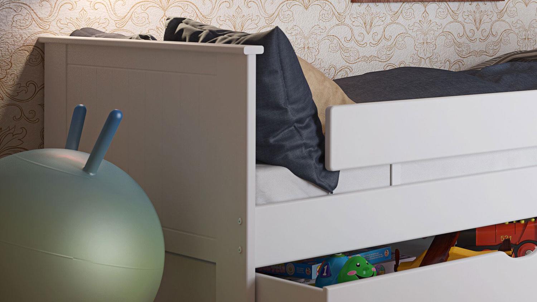 Full Size of Nobilia Alba Bettgestell Kinderbett Bett In Mdf Wei 90x200 Cm Küche Einbauküche Wohnzimmer Nobilia Alba