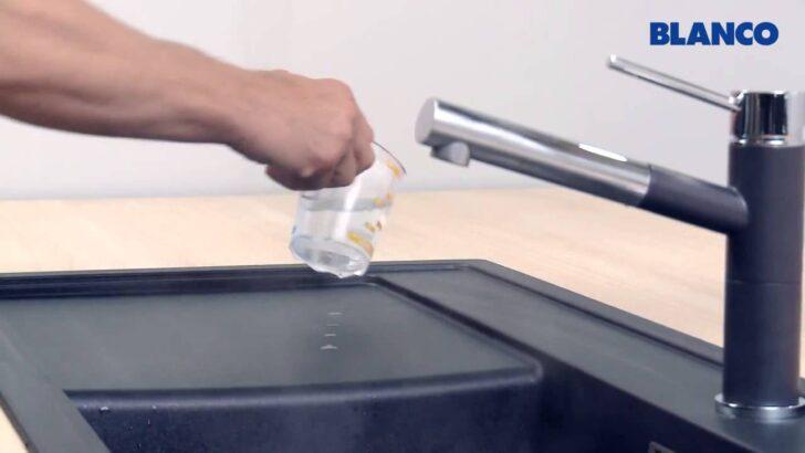 Medium Size of Reinigung Und Pflege Einer Blanco Sple Aus Silgranit Puradur Bett 180x200 Schwarz Schwarze Küche Schwarzes Weiß Wohnzimmer Spülstein Schwarz