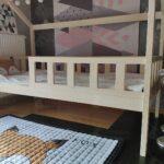 Kinderbett Huschenbett Hausbett Holzbett Kinderhaus Bett 100x200 Betten Weiß Wohnzimmer Hausbett 100x200